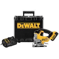 DEWALT DCS331M1, JIG SAW KIT 20V LI-ION - W/1 BATTERY ,CHARGER, KIT BOX DCS331M1