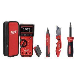 MILWAUKEE 2220-20, ELECTRICAL COMBO KIT W/CASE - 2217 2202 FLIP KNIFE 11-IN-1 2220-20