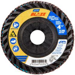 SAINT-GOBAIN NORTON 00253, DISC-FLAP 4-1/2 X 7/8 - 40G BLAZE QUICK TRIM T27 00253