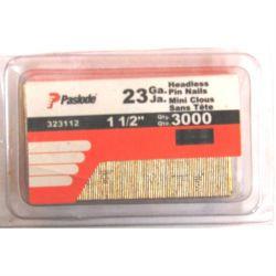 ITW CONSTRUCTION PRODUCTS PASLODE 323112, 323112 PIN NAILS 32 GA 1 1/2 - 1=30,000 PCS 323112