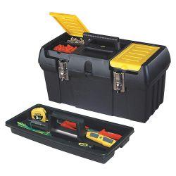 "STANLEY 019151M, TOOL BOX - PLASTIC C/W TRAY - 19""L X 10""W X 10""H - 019151M"