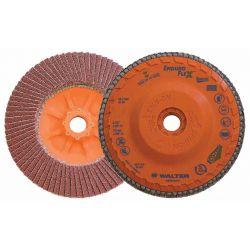 WALTER SURFACE TECHNOLOGIES 06F454, DISC-FLAP 4-1/2 X 5/8 SPIN-ON - 40G ENDURO-FLEX SS & ALLOYS 06F454