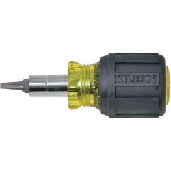 KLEIN TOOLS 32562, SCREWDRIVER/NUT DRIVER -STUBBY - 6-IN-1 32562