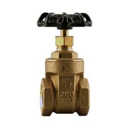 "BOSHART INDUSTRIES 0818-07NL, GATE VALVE-THREADED 3/4"" - NON-RISING STEM 200PSI NO LEAD 0818-07NL"