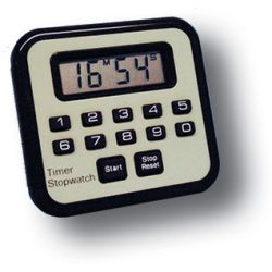 GENERAL TOOLS TI239, LCD COUNT-UP/COUNT-DOWN TIMER - 79 MIN, 99 SEC W STAND ON BACK TI239