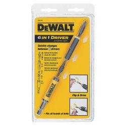 """DEWALT DW2330, 6-IN-1 DRIVE SET 4PC #2PH/#8SL - #2SQ/#1SQ 1/4"""" NUTSETTER, - DW2330"""