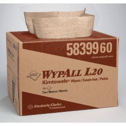 "KIMBERLY CLARK WYPALL 58399, KIMTOWELS-SHOP TOWEL-CARRY PAK - 12"" X 16.8""KRAFT 3-PLY 176/CS 58399"