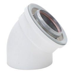 BRADFORD WHITE 224050, VENT ELBOW 45 DEGREE - (2/BX) 224050