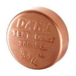 """DAHL VALVE LIMITED 9152, CAP COPPER TEST 3/4"""" 9152"""