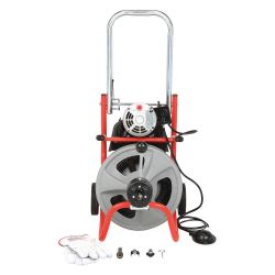 RIDGID 27008, KOLLMANN DRAIN CLEANER K-400 - W/STD EQUIPMENT AUTO FEED 27008