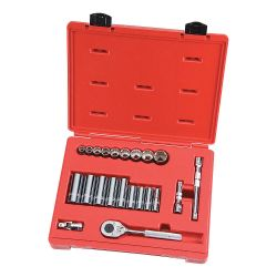 SOCKET SET- 12 PT - 22 PC 3/8 DRIVE