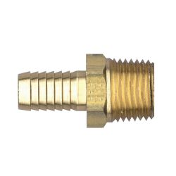 FAIRVIEW 125-3B, COUPLER-(BARB X MPT) BRASS - 3/16 HOSE X 1/4 MALE PIPE 125-3B