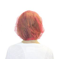 "CANSAFE DBRE-21-1, HAIR NET - RED BOUFFANT 21"" - 100/BAG (10 BAGS PER CASE) - DBRE-21-1"