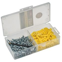 KLEIN TOOLS 53729, CONICAL ANCHOR KIT 100 - FASTENERS W/ BIT 53729
