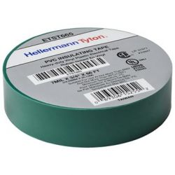 HELLERMANNTYTON ETST665, TAPE-ELECTRICAL GREEN - 18MM X 20 M (3/4 X 66 FT) - ETST665