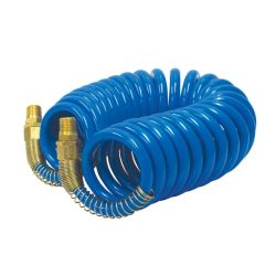 ROK 14130, COIL HOSE WITH SPRING END 1/4 - X 15 FT 14130