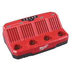 MILWAUKEE 48-59-1204, SEQUENTIAL CHARGER - M12 - FOUR BAY 48-59-1204
