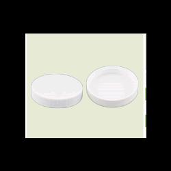 WFS APPROVED 014515, LID- WHITE POLYPROPYLENE - 58/400 FINISH, NO LINER 014515