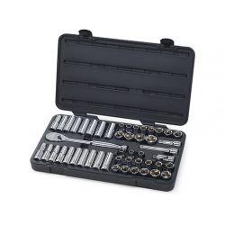 APEX 80700D, MECHANICS TOOL SET 49 PC - 1/2DR 6PT STD/DEEP SAE/METRIC 80700D