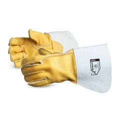 SUPERIOR GLOVE 365GC, RIGGERS COWGRAIN GLOVE LARGE - STRAP THUMB WELTED KEVLAR SEWN - 365GC