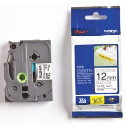 "BROTHER TZES231, TZ-ES231 BROTHER P-TOUCH TAPE - 1/2"" BLK/WHT EXTRA STRONG. TZES231"