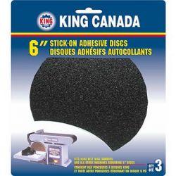 """KING TOOLS SD-6-K-80, 6"""" SANDING DISC - 80 GRIT 3/PK SD-6-K-80"""