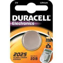 DURACELL DL2025BPK, BATTERY-LITHIUM 3 VOLT - CARDED .787 DIA X .098 HIGH DL2025BPK