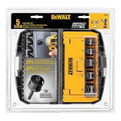 DEWALT D1800IR5, HOLE SAW SET 5 PC - IMPACT RATED - D1800IR5