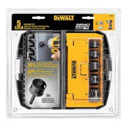 DEWALT D1800IR5, HOLE SAW SET 5 PC - IMPACT RATED D1800IR5