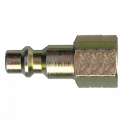 FAIRVIEW QD-INDN6-6F, HOSE COUPLER-QD STEEL NIPPLE - 3/8 X 3/8 FEMALE PIPE QD-INDN6-6F