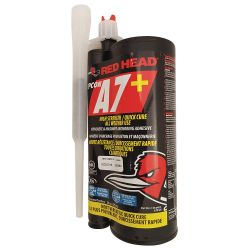 ITW CONSTRUCTION PRODUCTS RED HEAD A7P-28, EPCON CARTRIDGE 27.9 OZ - ACRYLIC EPOXY #7 C/W NOZZLE A7P-28