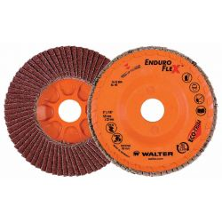 WALTER SURFACE TECHNOLOGIES 15R462, DISC-FLAP 4-1/2 X 7/8 - 120G ENDUROFLEX STEEL 15R462
