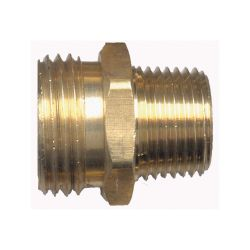 FAIRVIEW 196D, COUPLING-BRASS 1/2 - MALE HOSE X MALE PIPE 196D