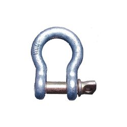 ALLIANCE MERCANTILE INC GOLDEN PIN 2902-0056, ANCHOR SHACKLE-GALV 7/8 - SCREW PIN 6-1/2 TON 2902-0056