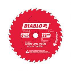 "FREUD DIABLO D0632GPX, BLADE-CIRCULAR 6-1/2"" - 32T TICO CARBIDE WOOD/METAL D0632GPX"