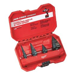 MILWAUKEE 48-89-9223, STEP DRILL BIT SET (4 PC) - #1, #4, #7, #12 48-89-9223
