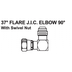 "PAULIN / DOMINION FITTINGS DSW349-8, 1/2""-1/2""STEELELBOW90'W/SWIVEL - FJICSWIVEL X MJIC 3903-8-8 DSW349-8"