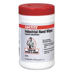 HENKEL LOCTITE 34943, HAND CLEANER-SCRUBBING WIPES - 72 WIPES/PAIL - 34943