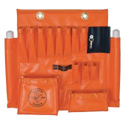 "KLEIN TOOLS 51829, VINYL APRON-AERIAL ORANGE - LARGE 24"" L X 23"" W 51829"