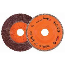 WALTER SURFACE TECHNOLOGIES 15R454, DISC-FLAP 4-1/2 X 7/8 - 40G ENDUROFLEX STEEL 15R454