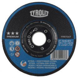 "TYROLIT 5330, GRINDING WHEEL A30Q - 6"" X 9/32 X 7/8 STEEL/SS 5330"