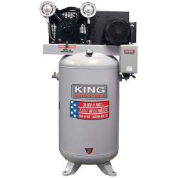 KING TOOLS KC-7180V1-MS, COMPRESSOR HIGH OUTPUT 80 GAL - 7.5 PEAK HP SINGLE STAGE PUMP KC-7180V1-MS