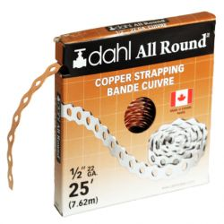 DAHL VALVE LIMITED 9050, COPPER STRAPPING - 1/2 X 25 FT 22 GAUGE 9050