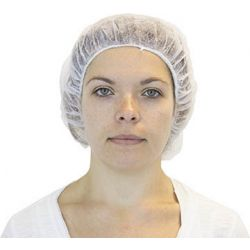 """CANSAFE - SAFETYZONE DBWH-21-1, HAIR NET - WHITE BOUFFANT 21"""" - 100/BAG (10 BAGS/CASE) - DBWH-21-1"""