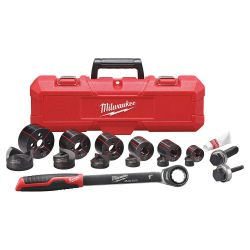 """MILWAUKEE 49-16-2694, HAND RATCHET KNOCKOUT SET - PUNCHES AND DIES 1/2"""" - 2"""" 49-16-2694"""