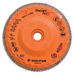 WALTER SURFACE TECHNOLOGIES 06B456, DISC-FLAP 4-1/2 X 5/8 SPIN-ON - 60G ENDURO-FLEX STEEL 06B456