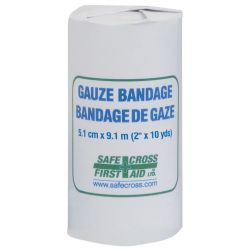"""SAFECROSS FIRST AID 02407, GAUZE BANDAGES 2"""" X 10 YDS 02407"""