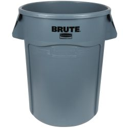 RUBBERMAID FG264360GRAY, BRUTE CONTAINER- 44 GAL - GREY - FG264360GRAY