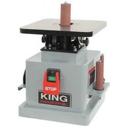 KING TOOLS KC-OVS-TL, HEAVY DUTY OSCILLATING SPINDLE - SANDER W/EMERGENCY STOP - KC-OVS-TL