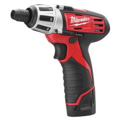 "MILWAUKEE 2401-22, SCREWDRIVER-CORDLESS 12V - LITHIUM-ION 1/4"" HEX CHUCK 2401-22"